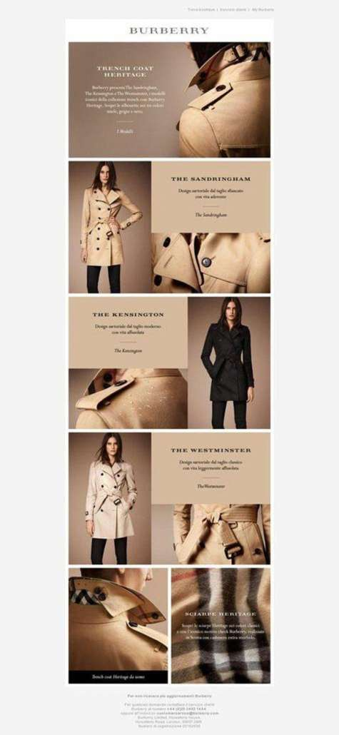 Burberry Email Newsletter