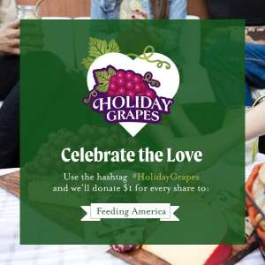 Use the hashtag #HolidayGrapes and we'll donate $1 for every share to Feeding America