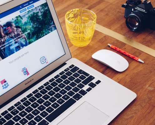 Facebook Ads website on laptop